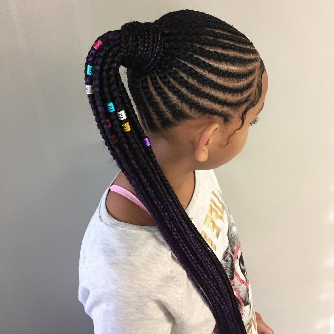 Preferred Two Braids In One Hairstyles Inside Awesome Braided Hairstyles For Little Girls – Loud In Naija (View 13 of 20)