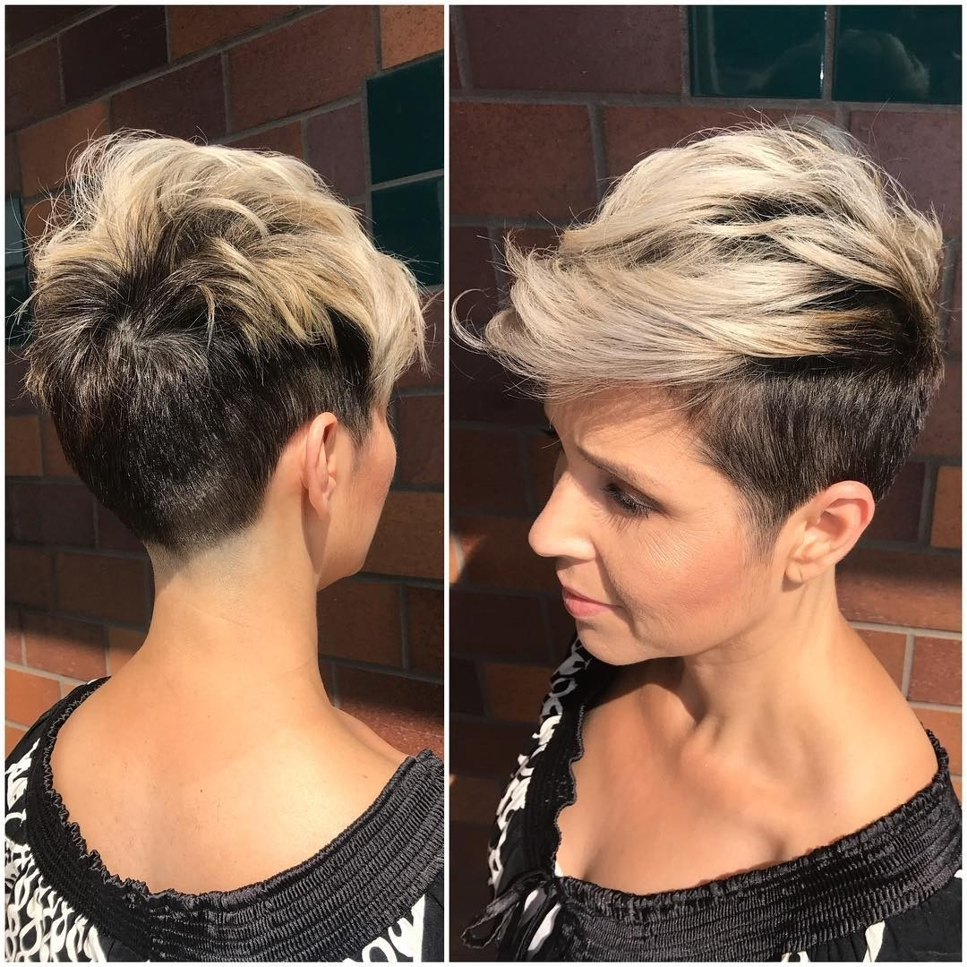 Preferred Two Tone Pixie Hairstyles Within 22 Artistic Messy Hairstyles For Short Hair ~ Louis Palace (View 2 of 20)