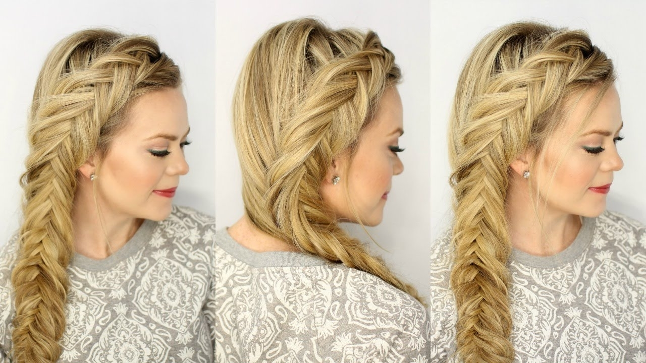 Preferred Undone Fishtail Mohawk Hairstyles Pertaining To Dutch Fishtail Braid (View 14 of 20)
