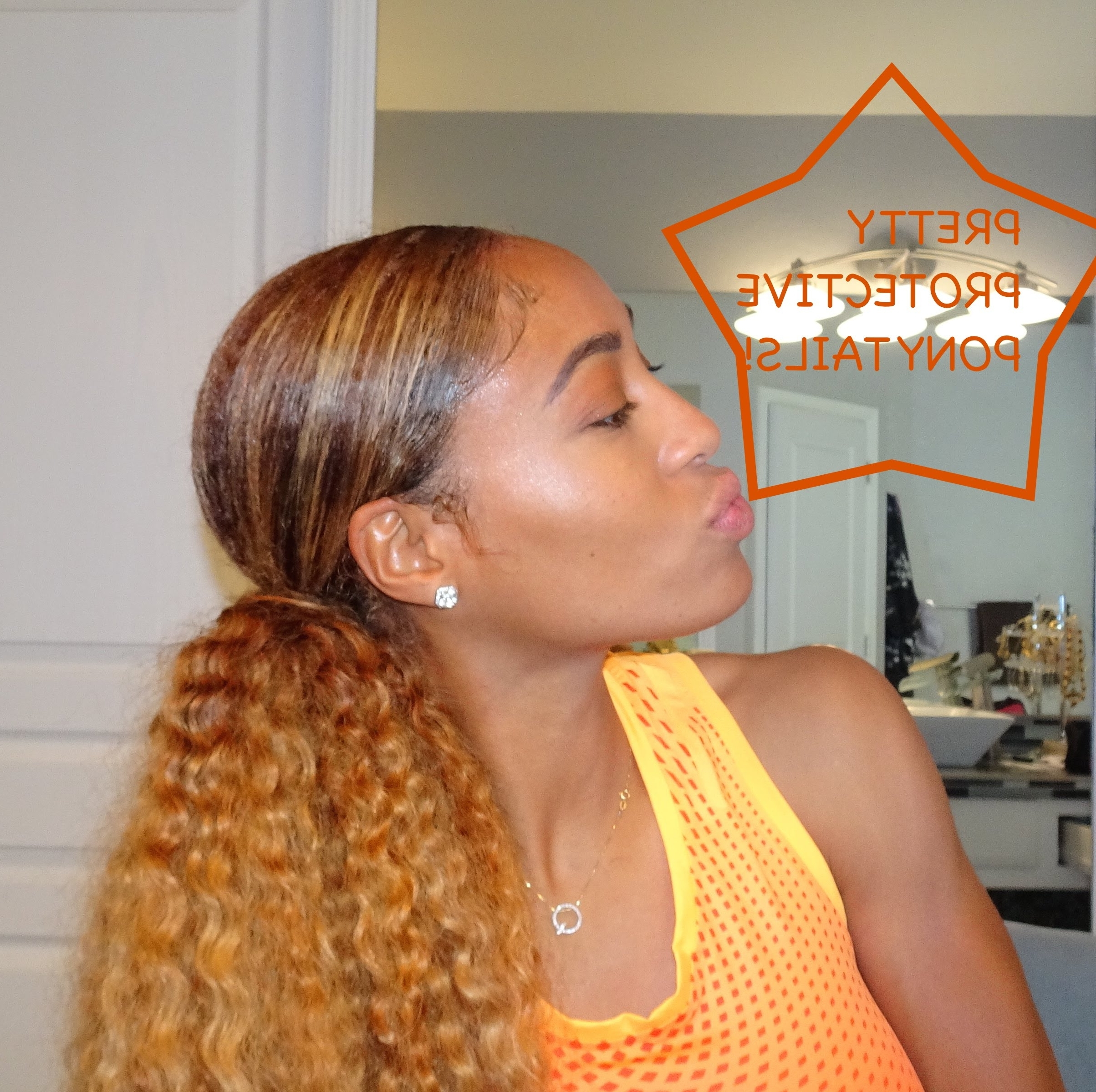Featured Photo of Curly Blonde Ponytail Hairstyles With Weave