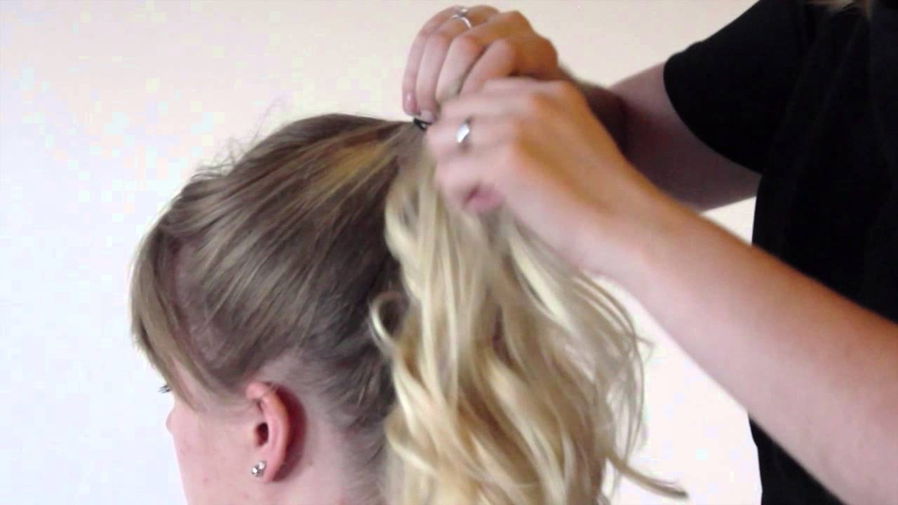 Pumped Up Ponytail – Youtube For Most Up To Date Pumped Up Messy Ponytail Hairstyles (View 17 of 20)
