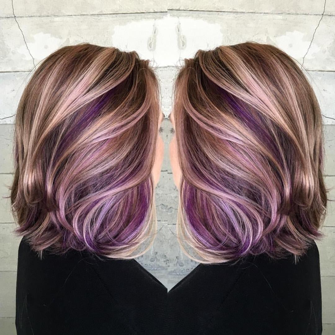 Purple Peekaboo Hair Color (View 16 of 20)