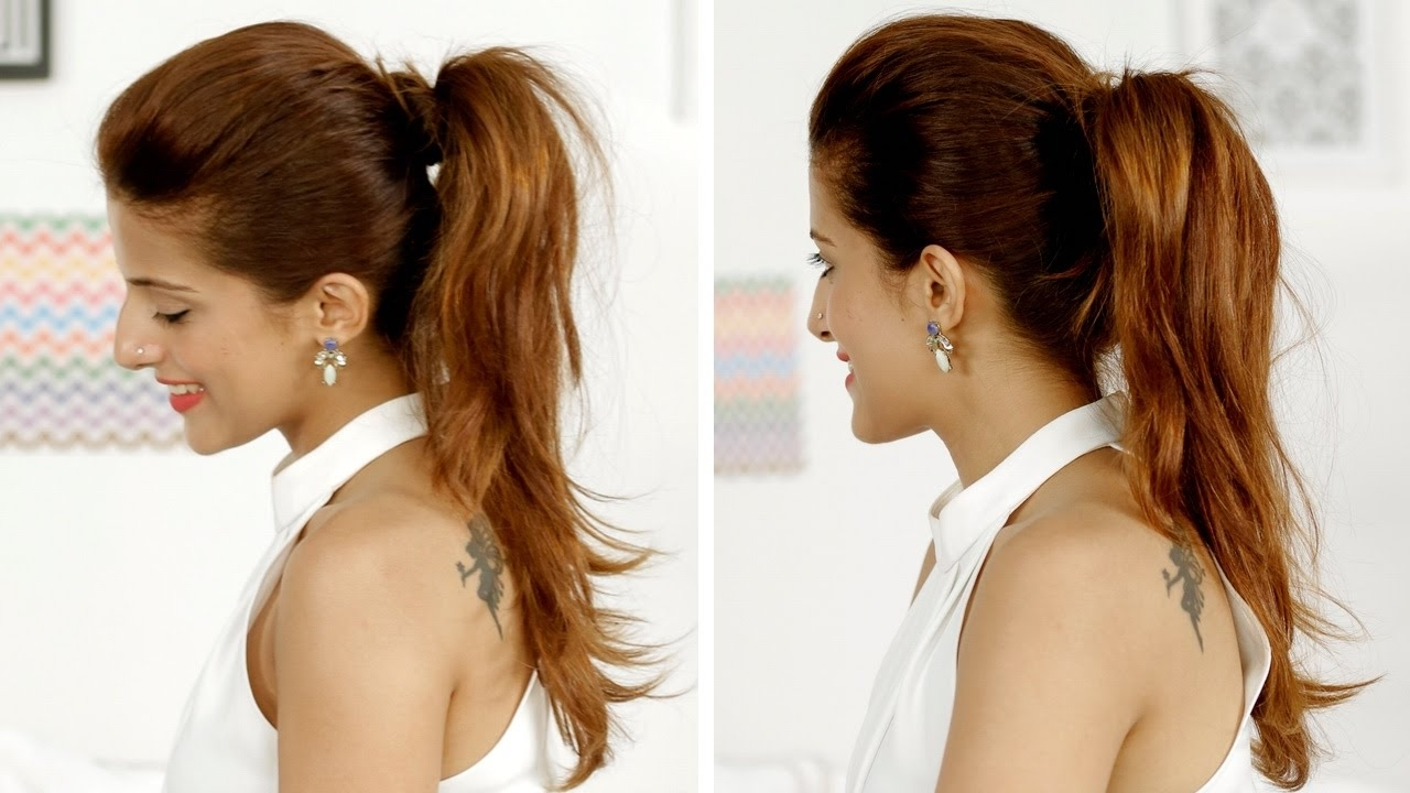 Quick And Easy Throughout Fashionable Pumped Up Messy Ponytail Hairstyles (View 18 of 20)