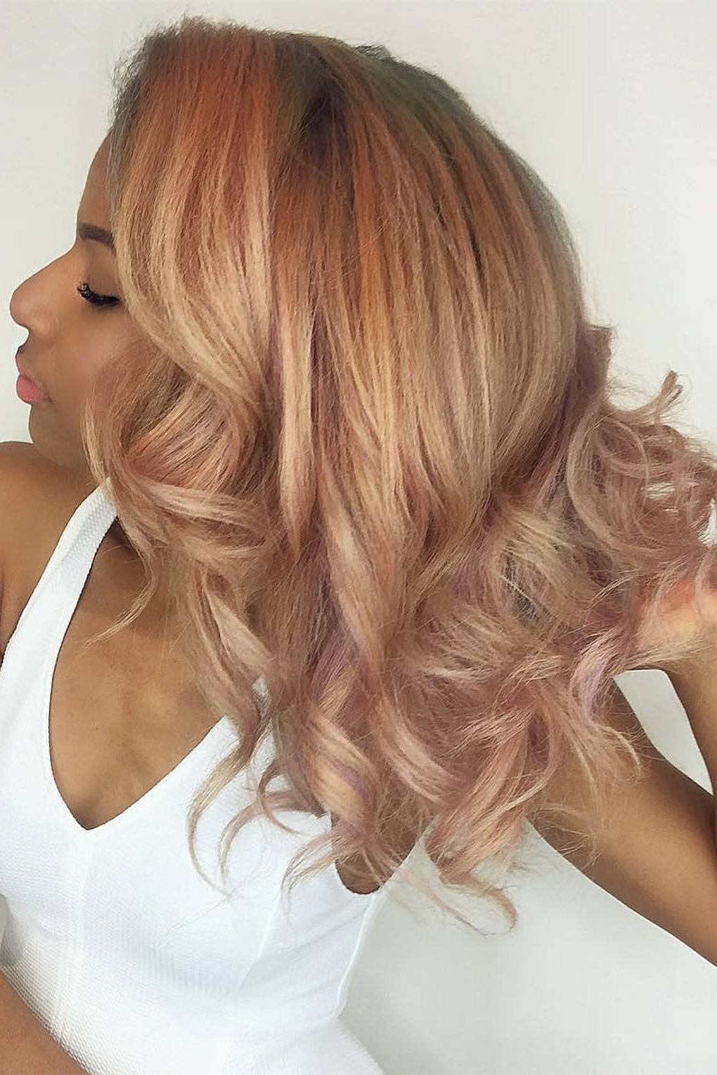 Recent African American Messy Ashy Pixie Hairstyles Regarding Rose Gold Hair Colour: The Trend For The Perfect Pink Hair Shades (View 17 of 20)