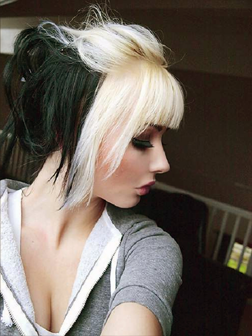 Recent Bi Color Blonde With Bangs For Black Hair With Blonde Bangs Pictures – Inofashionstyle (Gallery 6 of 20)