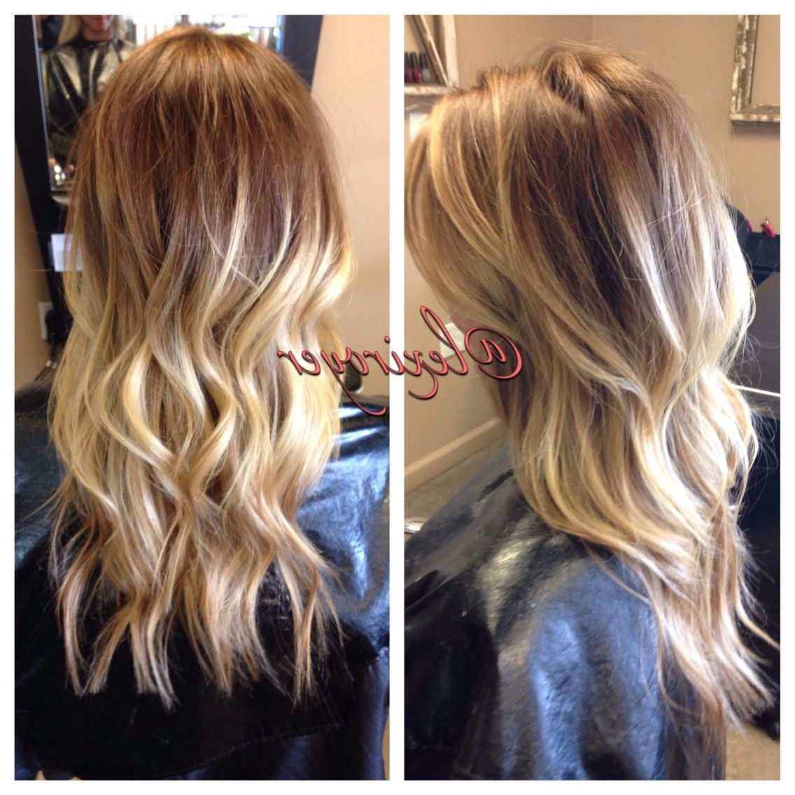 Recent Blonde Color Melt Hairstyles Throughout Balayage Highlights Color Melt Smudge Long Blonde Layers (View 16 of 20)