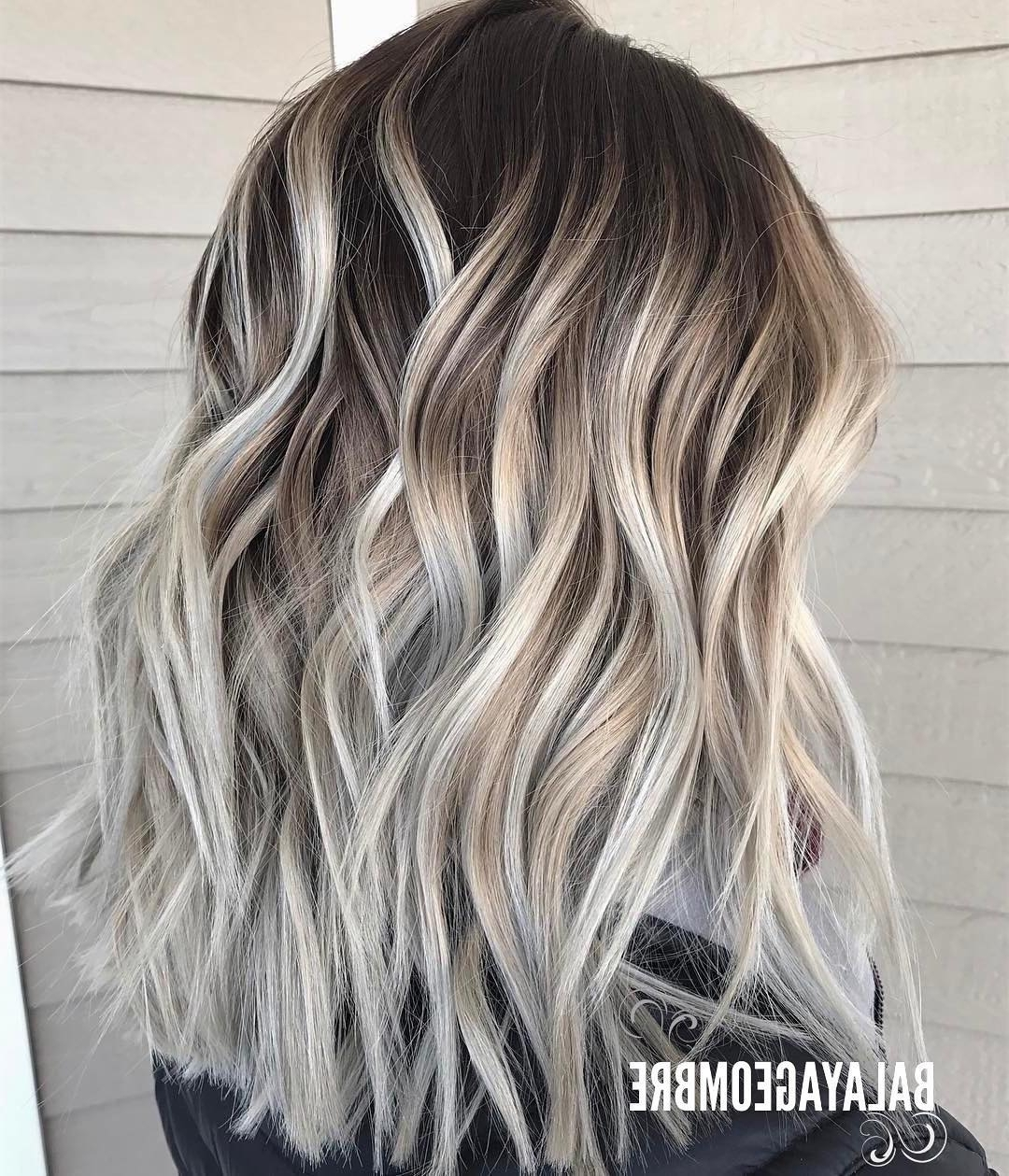 Recent Contrasting Highlights Blonde Hairstyles Intended For 10 Best Medium Layered Hairstyles 2018 Brown & Ash Blonde Fashion Colors (Gallery 8 of 20)