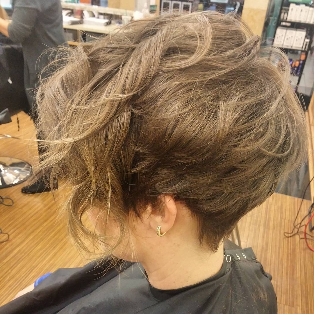 Recent Feathered Pixie With Balayage Highlights Inside 12 Long Pixie Cuts, Bangs And Bob You Will Ever Need (View 19 of 20)