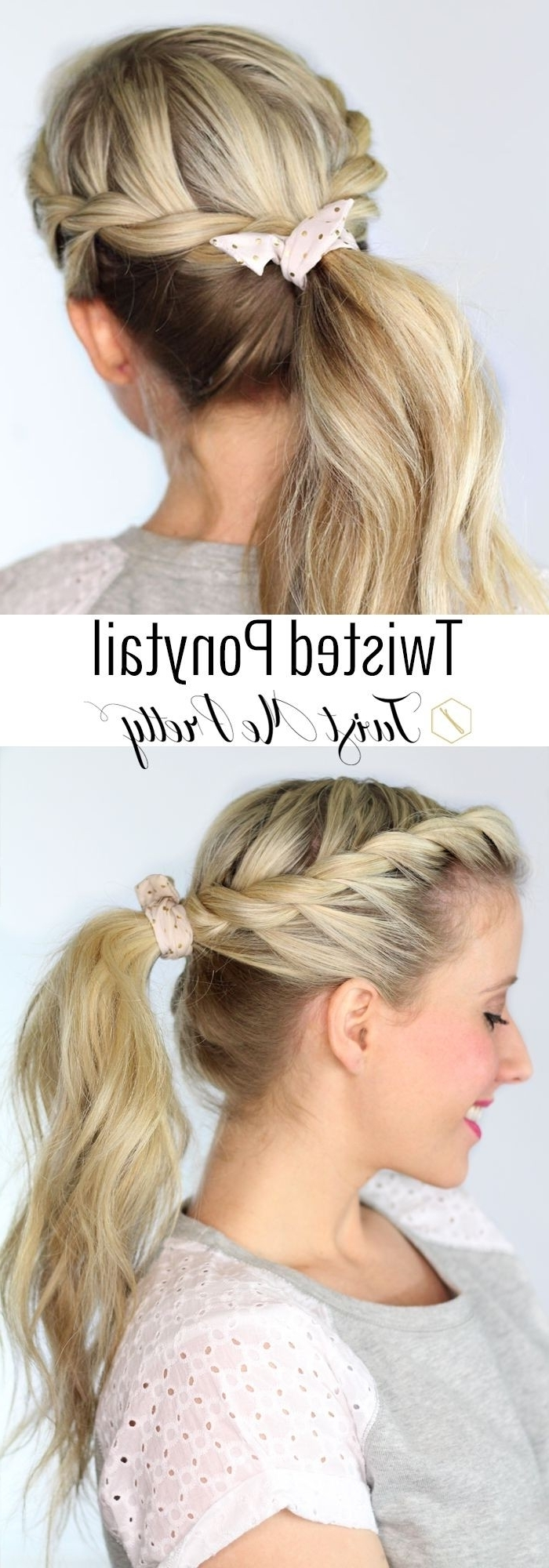 Recent High Messy Pony Hairstyles With Long Bangs Pertaining To 10 Cute Ponytail Ideas: Summer And Fall Hairstyles For Long Hair (Gallery 8 of 20)