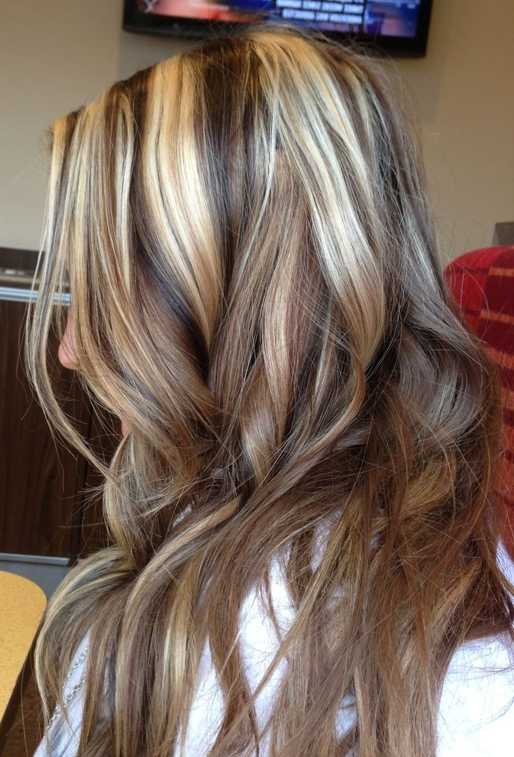 Recent Light Brown Hairstyles With Blonde Highlights In Medium Hairstyles Dark Brown Hair With Highlights (View 20 of 20)
