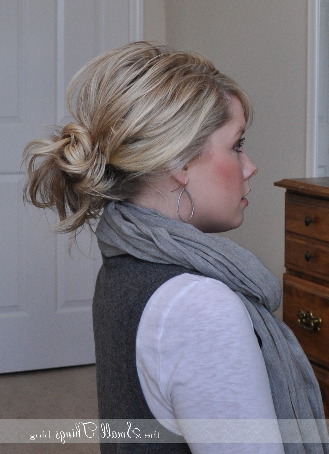 Recent Messy And Teased Gray Pony Hairstyles In Messy Ponytail/bun – The Small Things Blog (View 15 of 20)