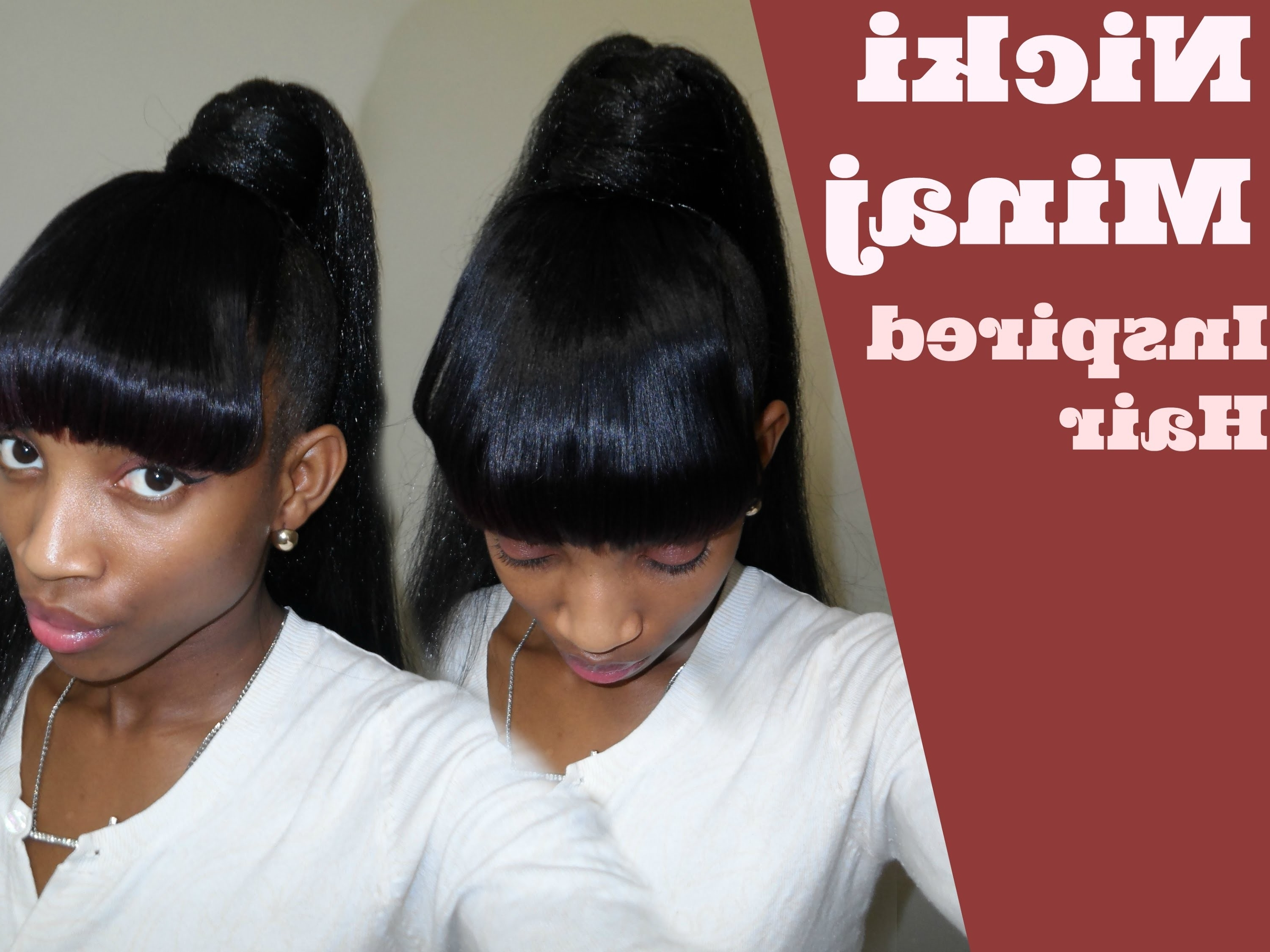 Recent Minaj Pony Hairstyles With Arched Bangs Throughout 10 Unexpected Ways Bangs And Ponytail Hairstyles Can Make Your Life (Gallery 20 of 20)