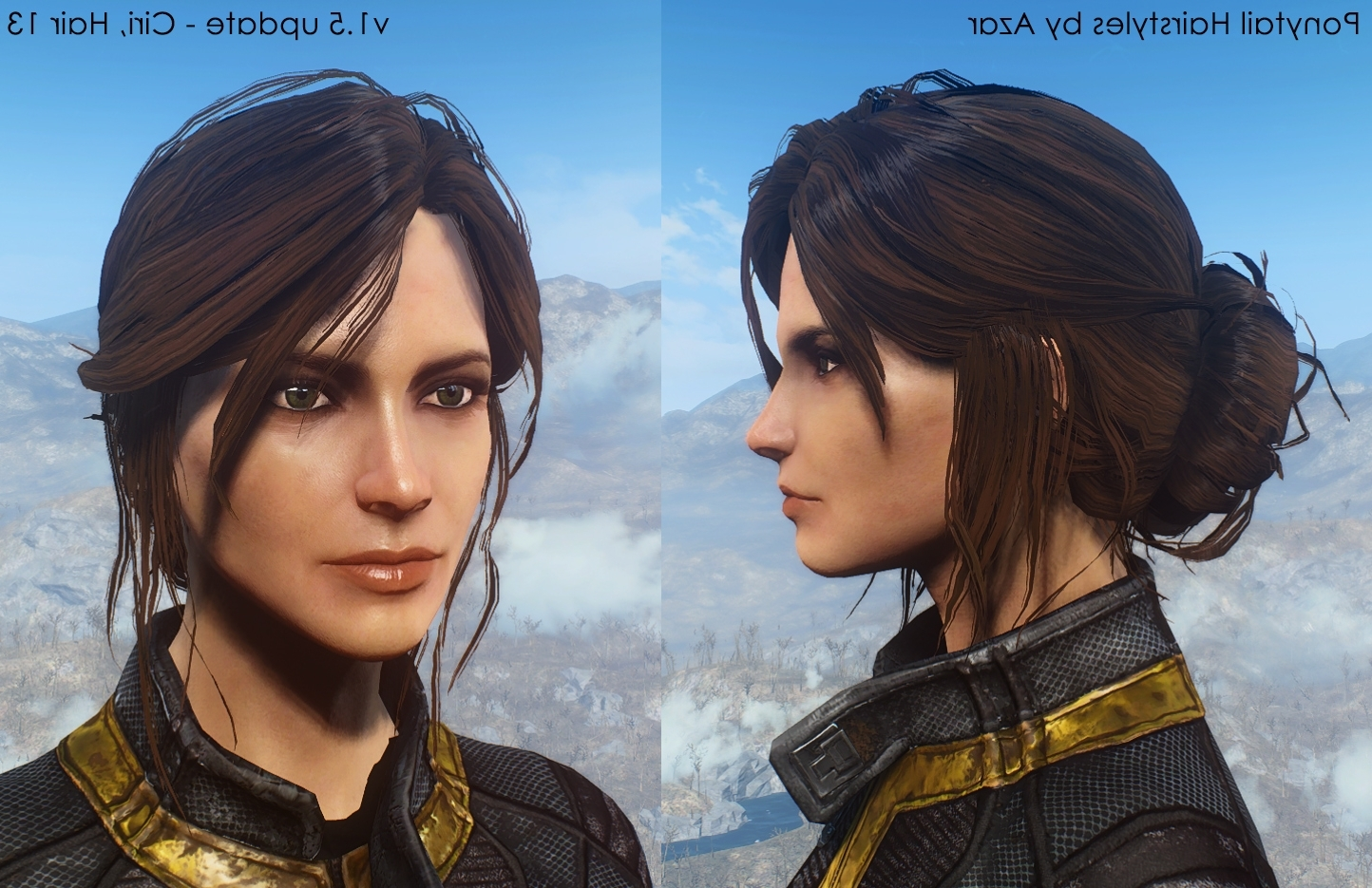 Recent Mod Ponytail Hairstyles Regarding Ponytail Hairstylesazar V2.5A At Fallout 4 Nexus – Mods And (Gallery 7 of 20)