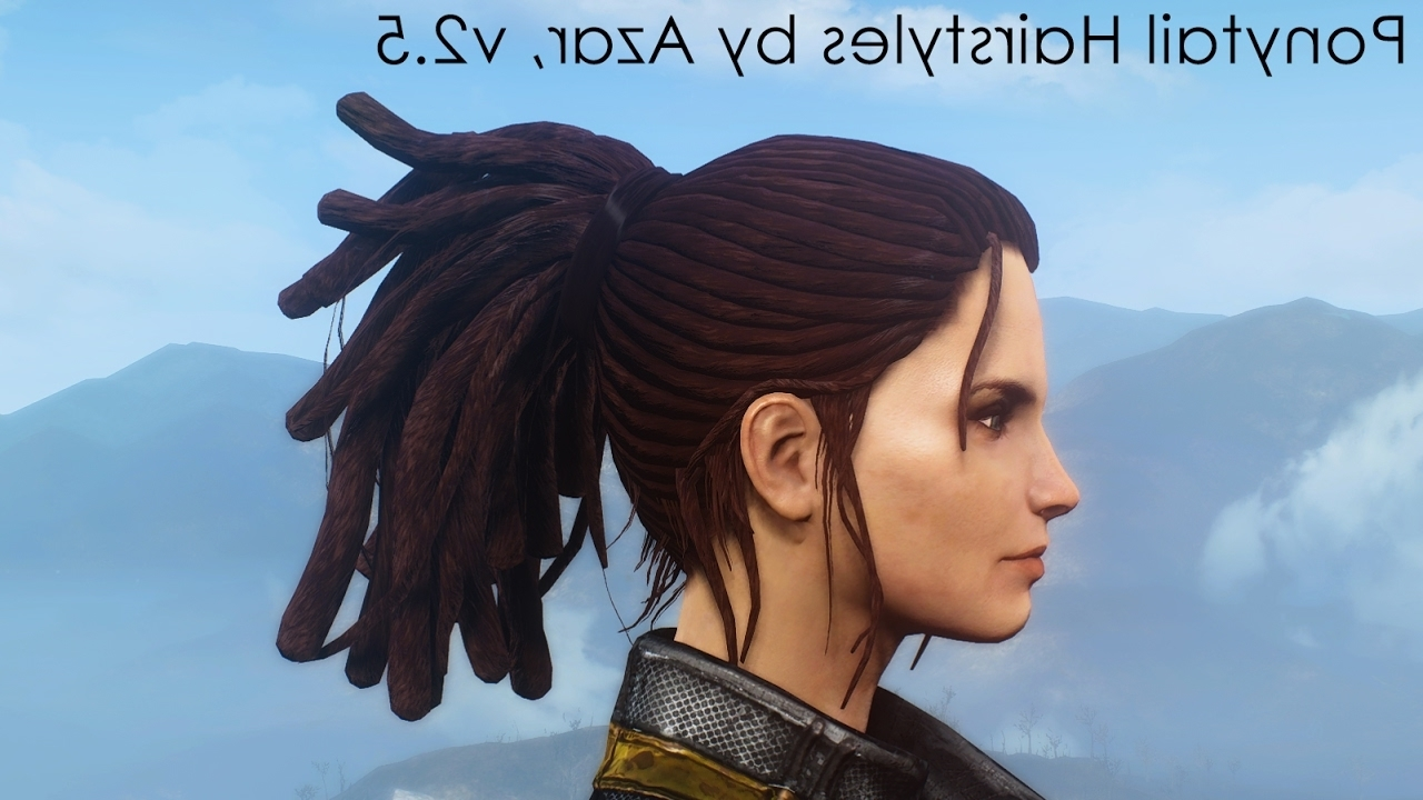 Recent Mod Ponytail Hairstyles With Regard To Ponytail Hairstylesazar – V2.5 Update – Youtube (Gallery 4 of 20)