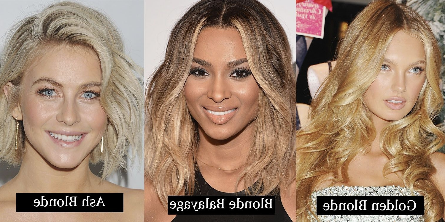 Recent Pale Blonde Balayage Hairstyles In 24 Blonde Hair Colours – From Ash To Dark Blonde – Here's What Every (View 16 of 20)