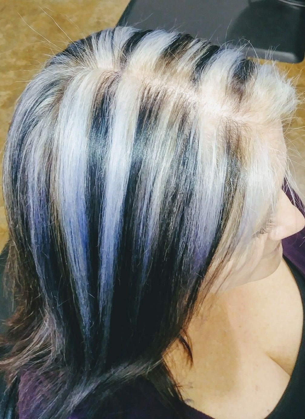 Recent Pastel And Ash Pixie Hairstyles With Fused Layers For Silver And Black Hair. Black Lowlights Redken Fusion 1ab (View 4 of 20)