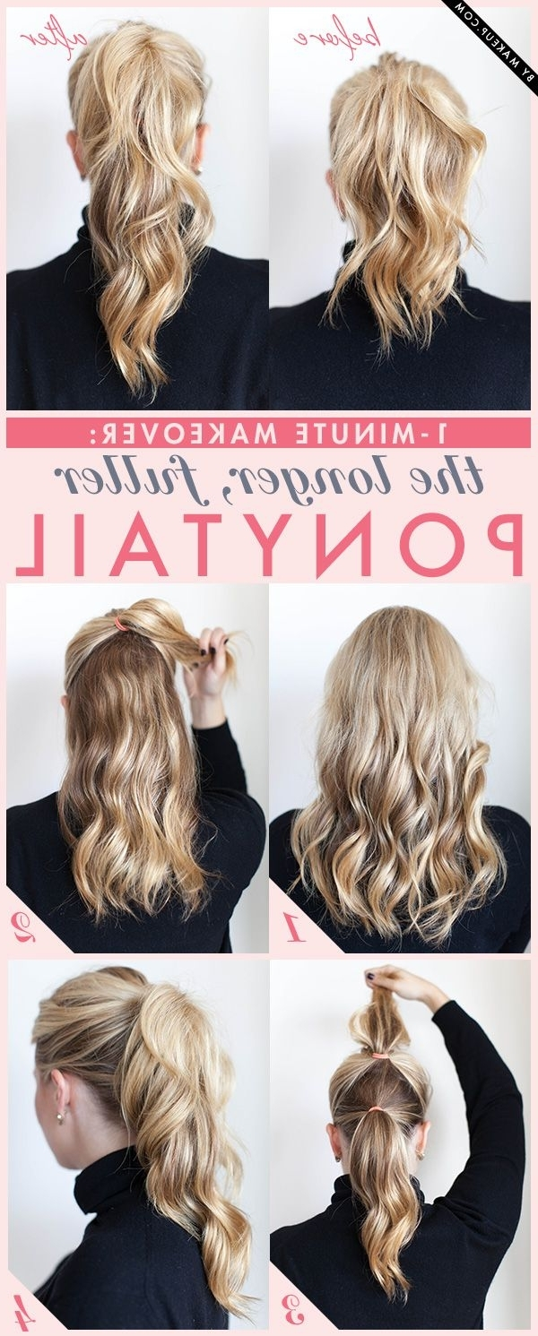 Recent Ponytail Hairstyles For Fine Hair Intended For 1 Minute Makeover: The Longer, Fuller Ponytail In 2018 (Gallery 5 of 20)