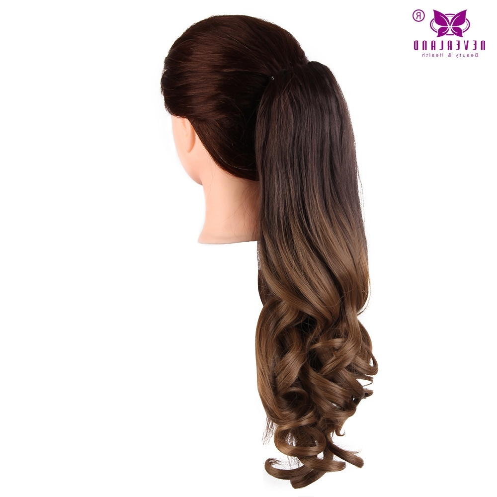 "Recent Ponytail Hairstyles With Wild Wavy Ombre Regarding Aimei 20"" 50Cm Synthetic Wavy Claw Clip In Ponytail Hair Extension (Gallery 15 of 20)"
