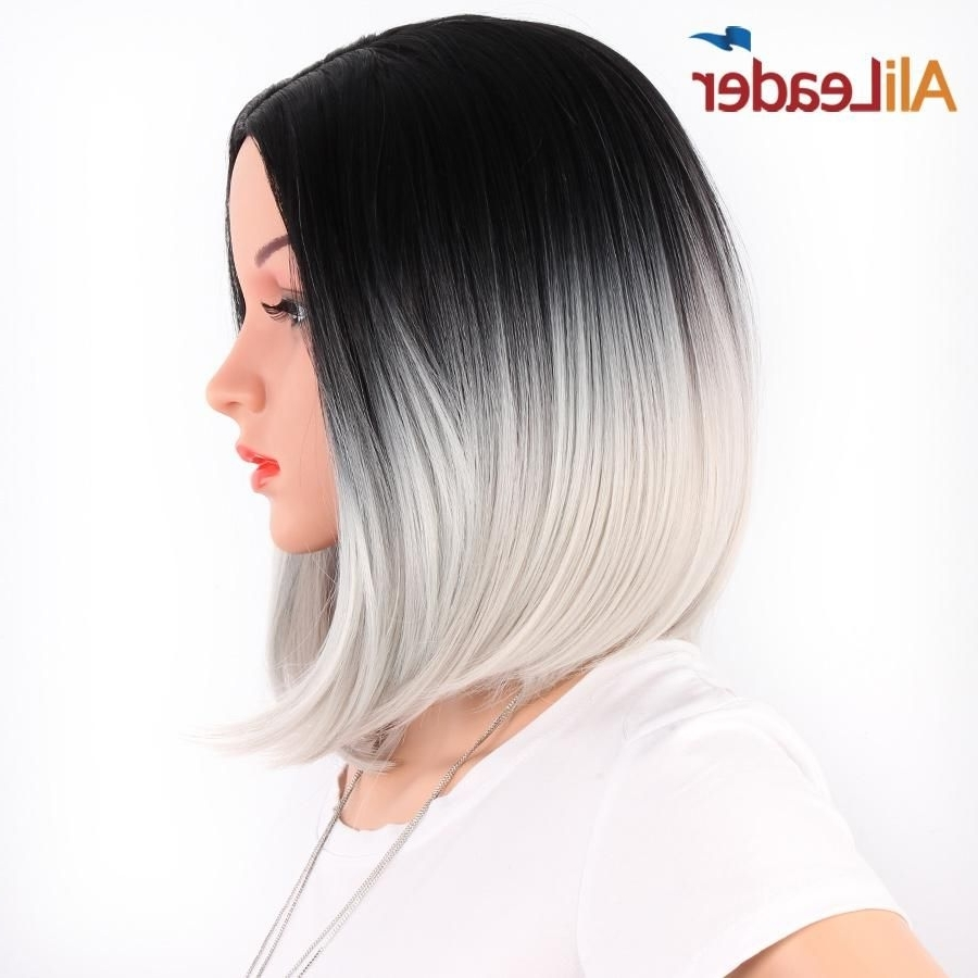 Recent Shoulder Length Ombre Blonde Hairstyles Intended For Alileader African American Bob Wigs Short Shoulder Length Ombre (View 15 of 20)