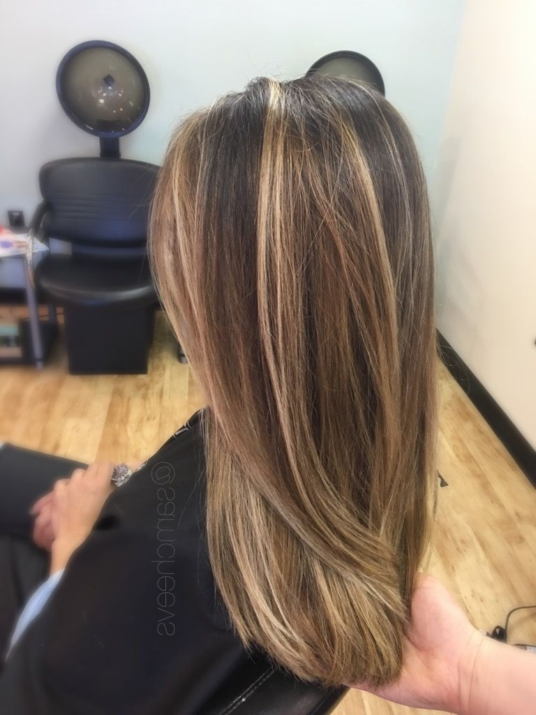 Recent Straight Sandy Blonde Layers With Hair Color : Beautiful Brown With Blonde Highlights Curly Dark Weave (View 16 of 20)