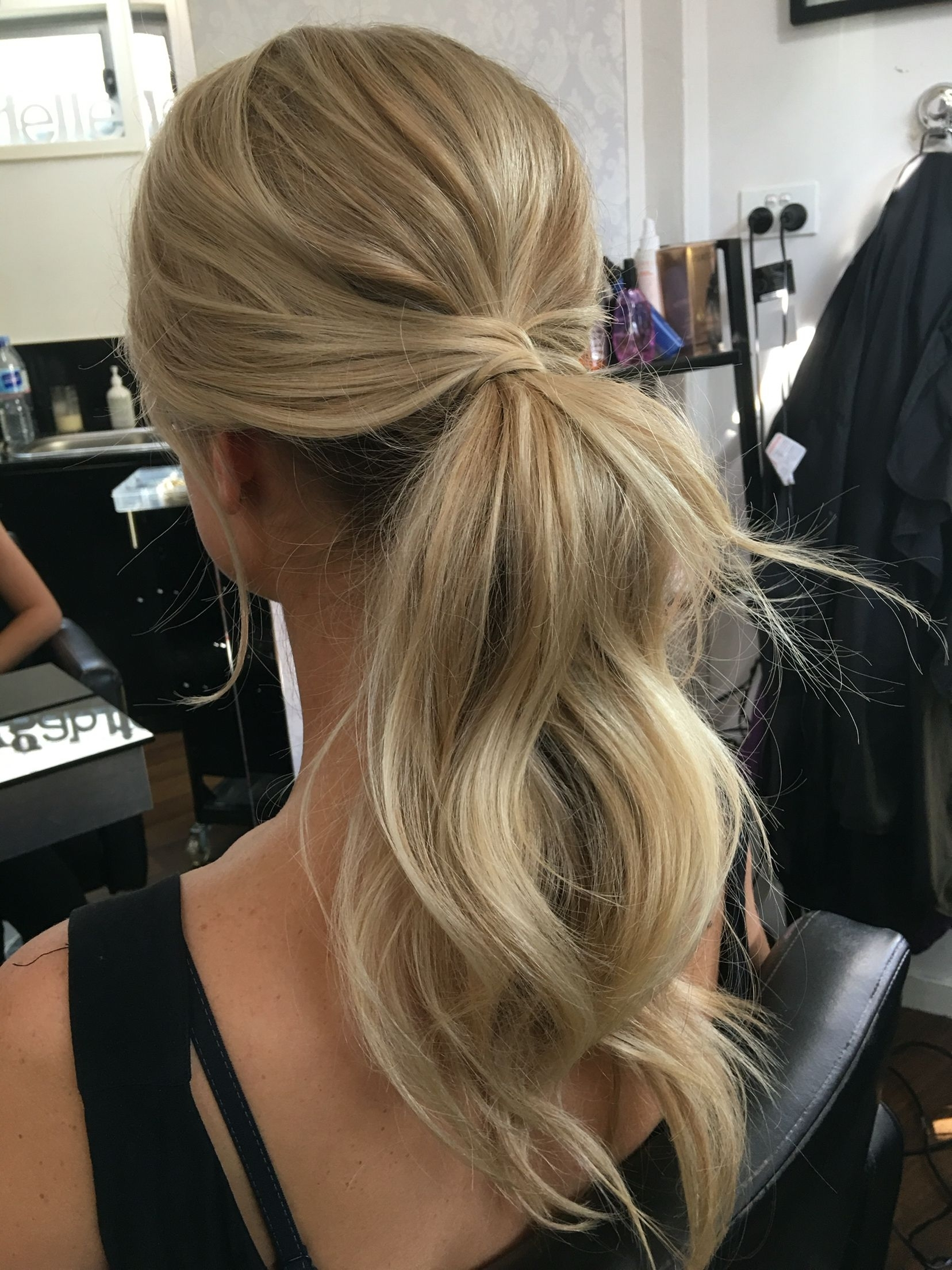 Recent Stylish Low Pony Hairstyles With Bump With Regard To Wedding Hairstyles (Gallery 15 of 20)