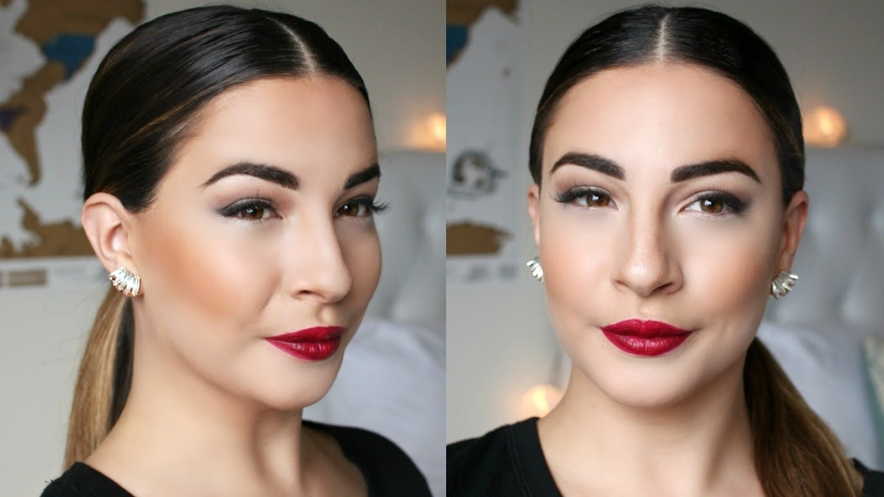 Recent Super Sleek Ponytail Hairstyles Within Celebrity Inspired Sleek Low Ponytail – Youtube (Gallery 3 of 20)