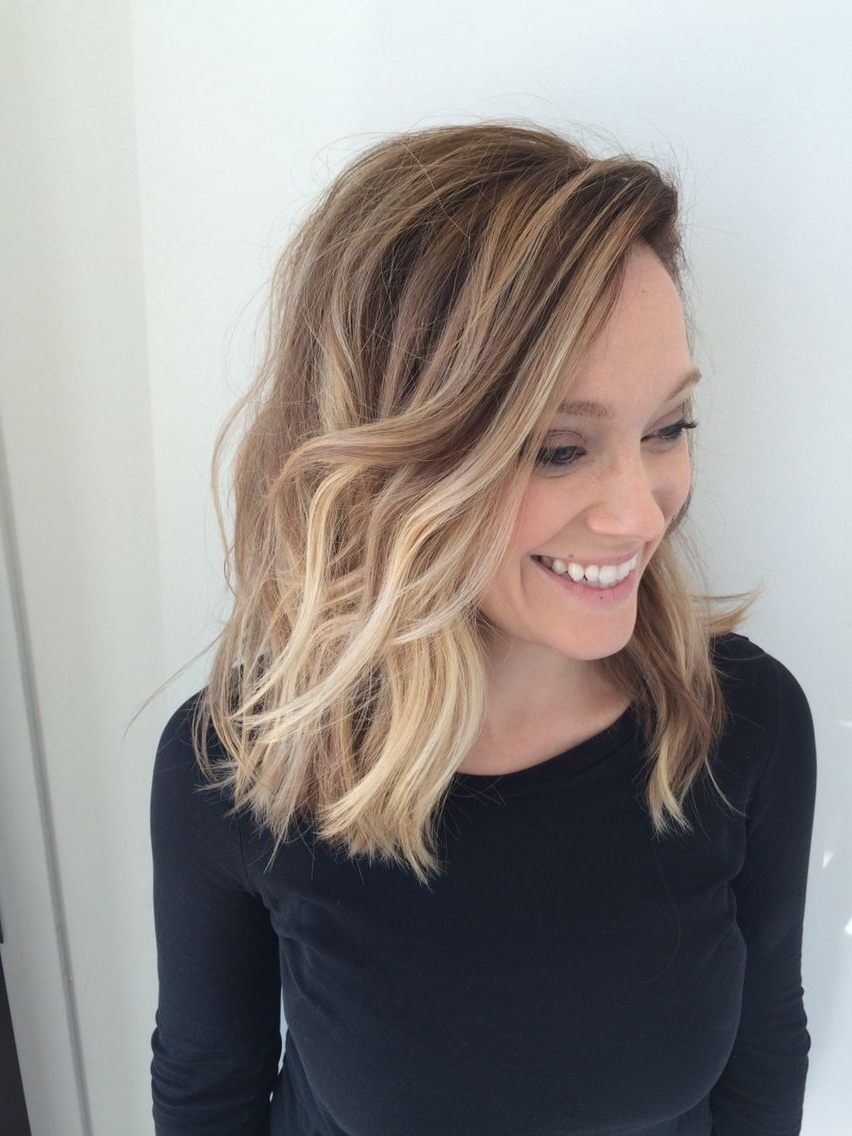 Recent Textured Medium Length Look Blonde Hairstyles Throughout 23 Cute Bob Haircuts & Styles For Thick Hair: Short, Shoulder Length (View 18 of 20)