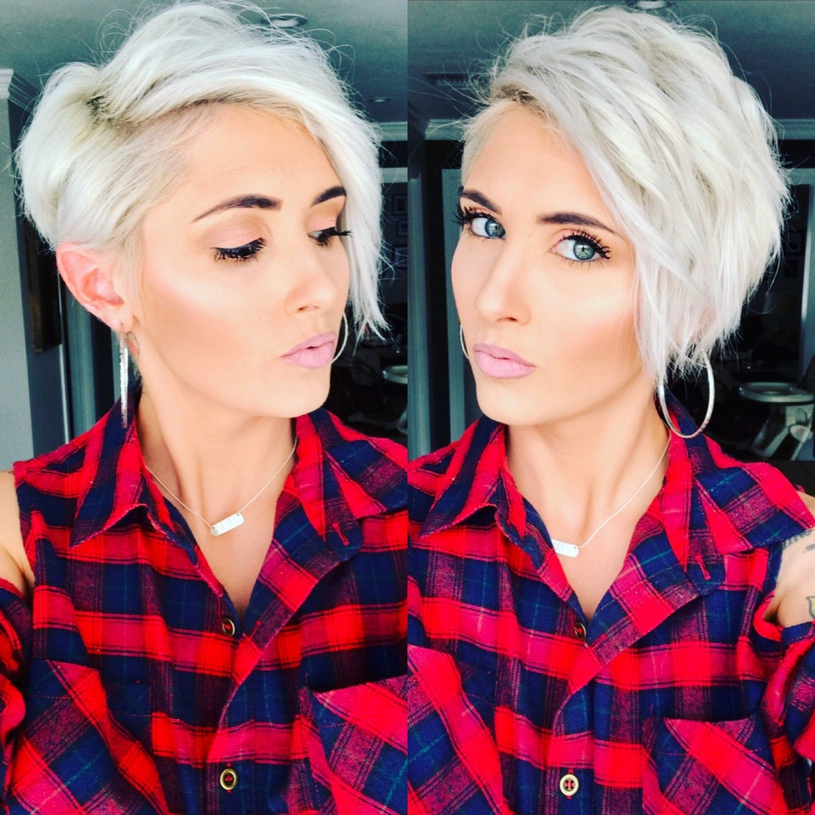 Red Flannel Blonde Pixie Platinum Pixie Short Pixie Platinum Blonde For Trendy Bleach Blonde Pixie Hairstyles (View 3 of 20)