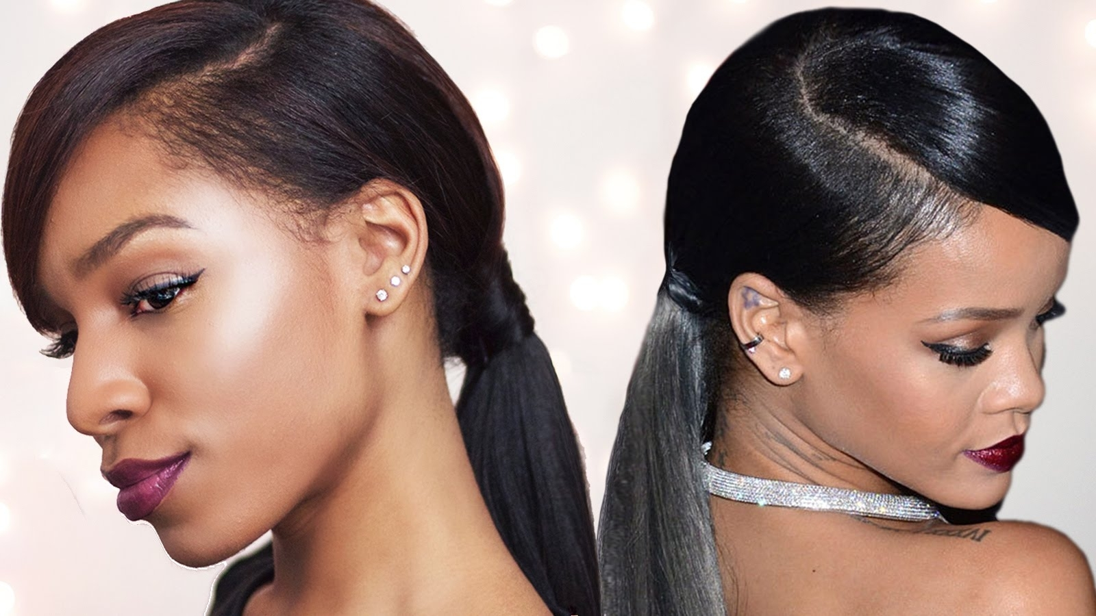 Rihanna Inspired Swoop Ponytail (For Short Hair) With Betterlength Throughout Well Known Low Black Ponytail Hairstyles With Bangs (Gallery 13 of 20)