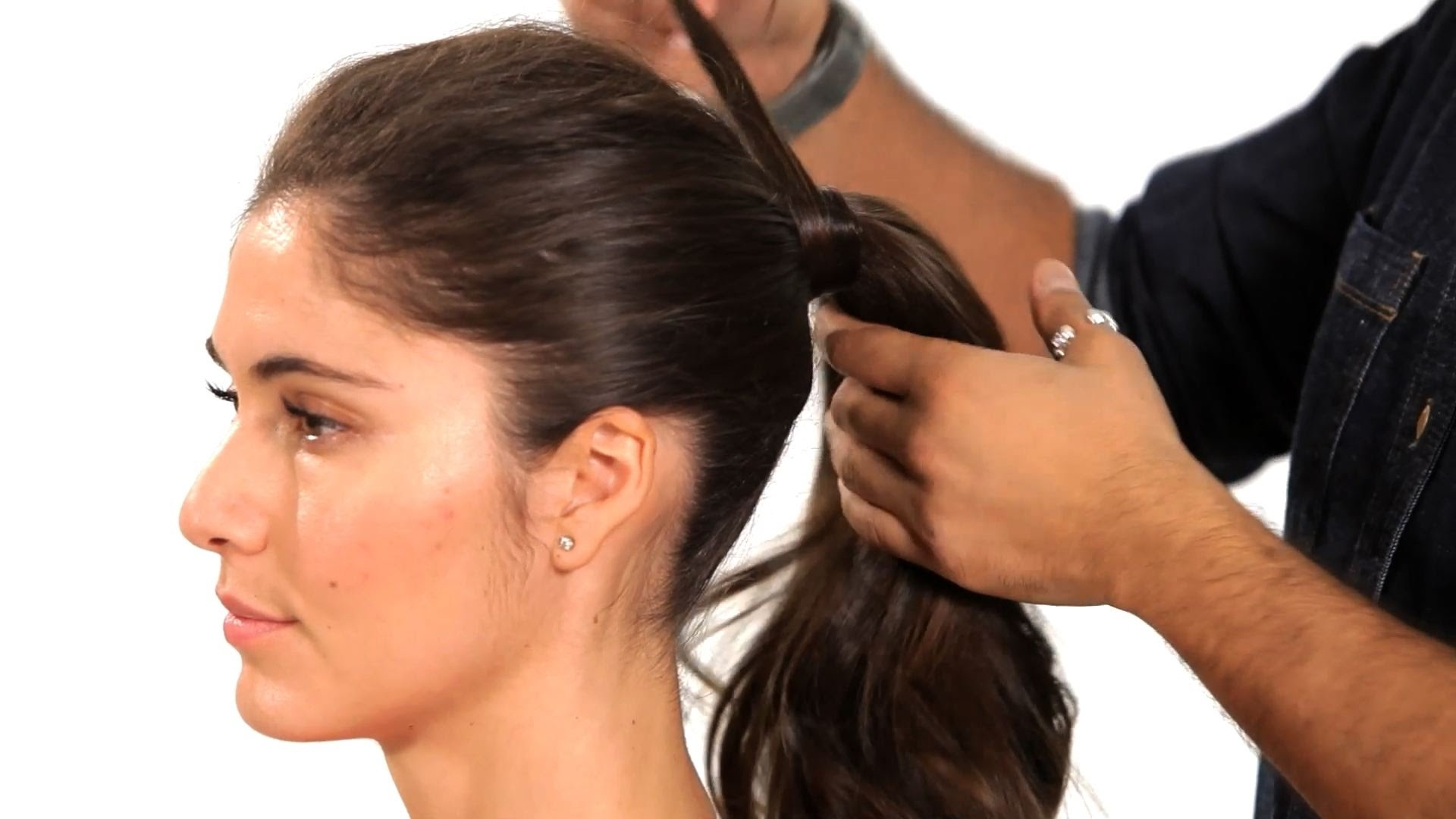 Salon Hair Tutorial – Youtube Within Trendy Formal Side Pony Hairstyles For Brunettes (Gallery 19 of 20)