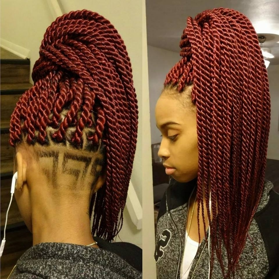 Senegalese Twist Ponytail Ideas In Preferred Cornrows And Senegalese Twists Ponytail Hairstyles (View 20 of 20)