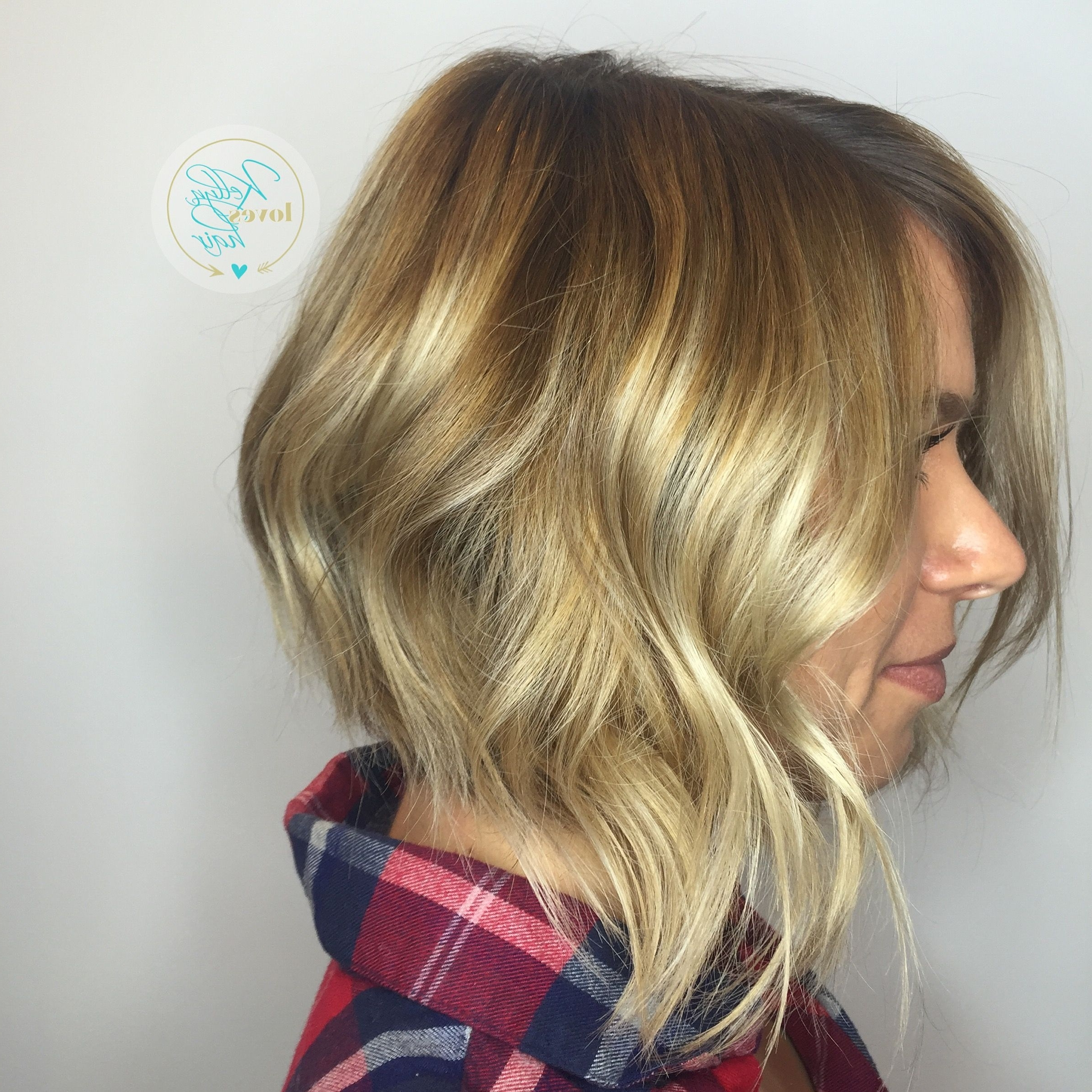 Short Bob Haircut With Disconnected Angle, Blonde Balayage Intended For Trendy Disconnected Blonde Balayage Pixie Hairstyles (View 15 of 20)