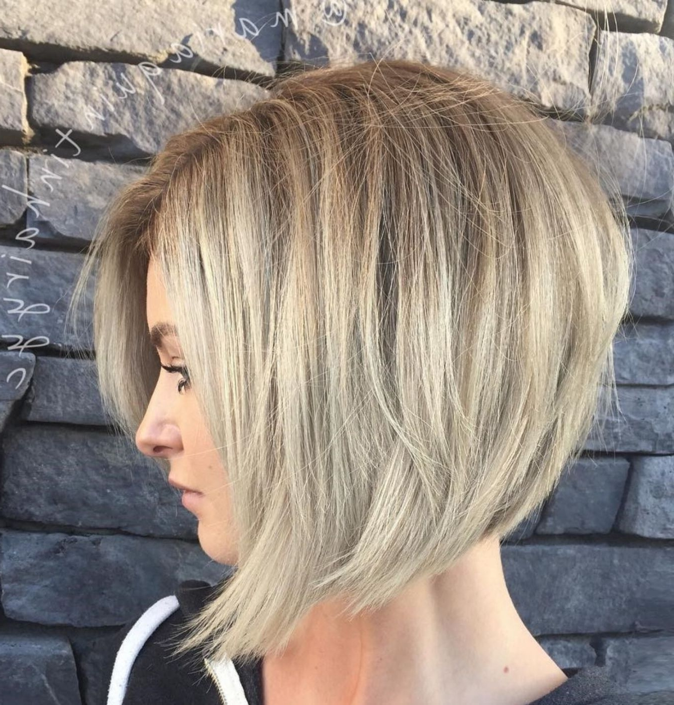 Short Bob Haircuts Intended For Most Popular Super Straight Ash Blonde Bob Hairstyles (View 6 of 20)