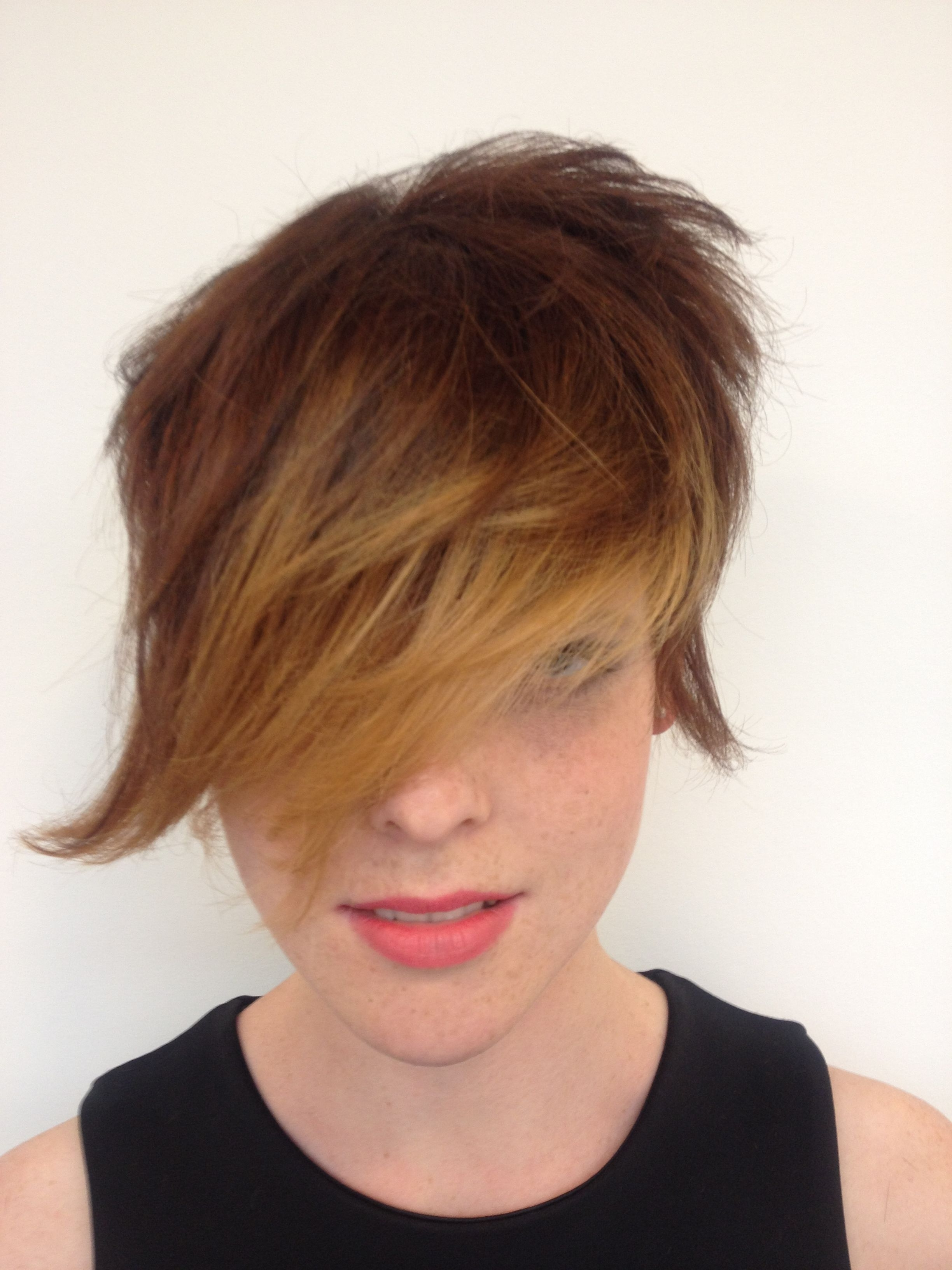Short Disconnected Haircut #haircut #blond #short #hair #longfringe Throughout Most Up To Date Disconnected Blonde Balayage Pixie Hairstyles (View 16 of 20)