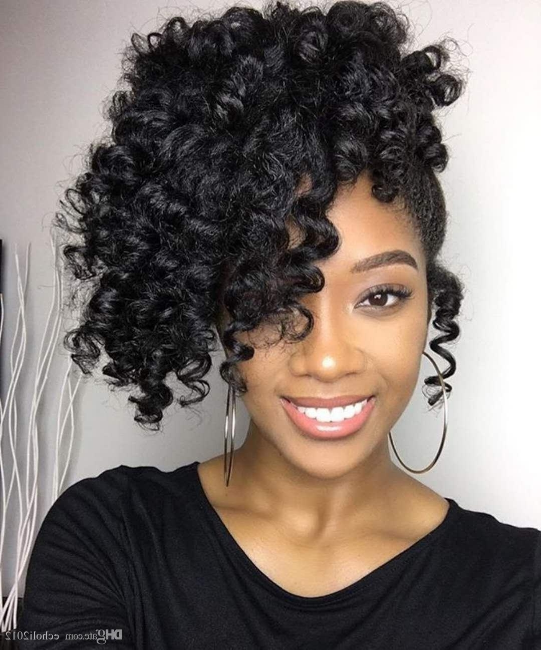 Short High Ponytail Human Hair Unprocessed Brazilian Virgin Hair With Popular High Curled Do Ponytail Hairstyles For Dark Hair (View 14 of 20)