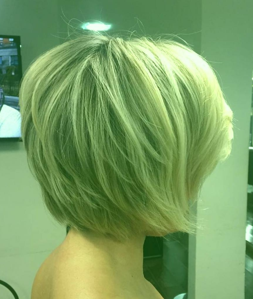 Short Layered Haircuts For Girls Layered Blonde Balayage Bob Trend Pertaining To Best And Newest Balayage Pixie Hairstyles With Tiered Layers (View 17 of 20)
