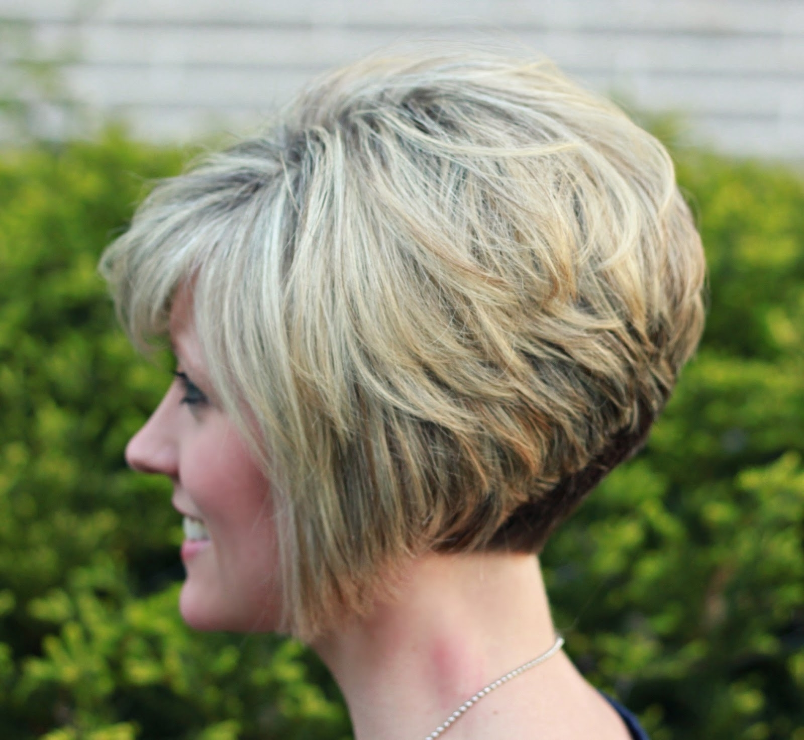 Short Stacked Haircuts With Bangs 59 With Short Stacked Best Of Pertaining To Most Up To Date Stacked Pixie Bob Hairstyles With Long Bangs (View 16 of 20)
