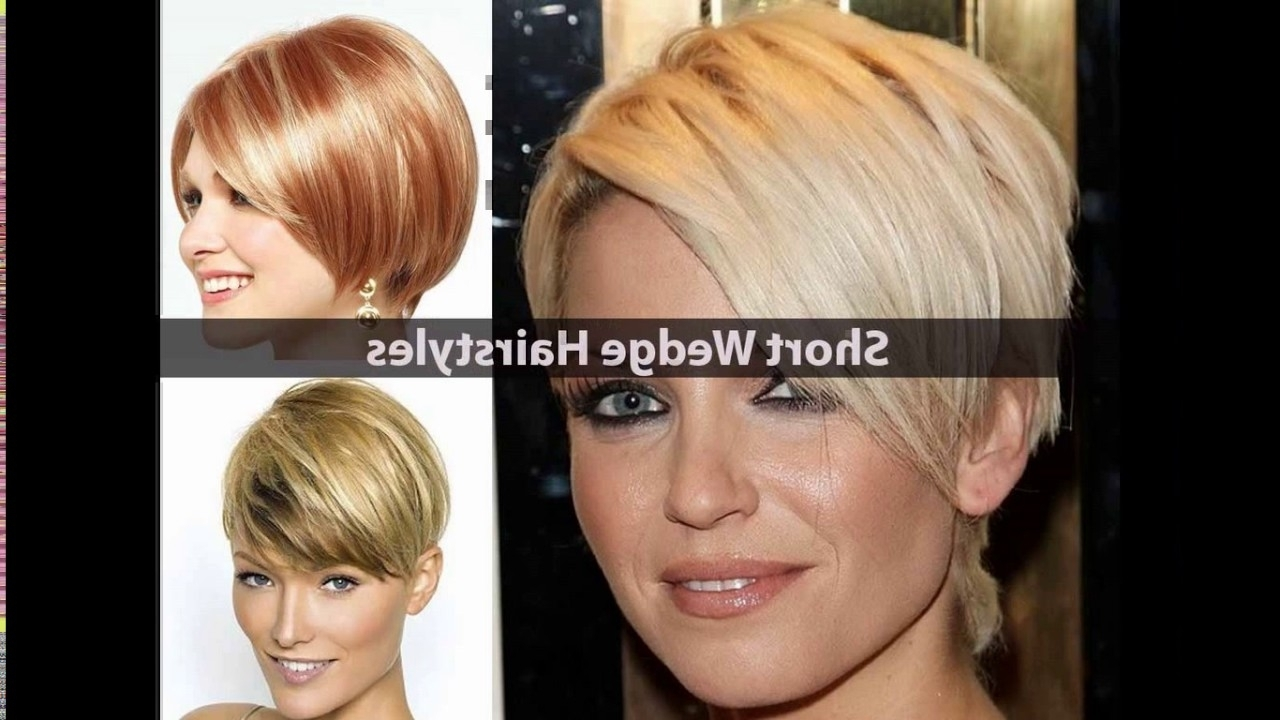 Short Stacked Wedge Haircut – Youtube Throughout Recent Pixie Wedge Hairstyles (View 8 of 20)