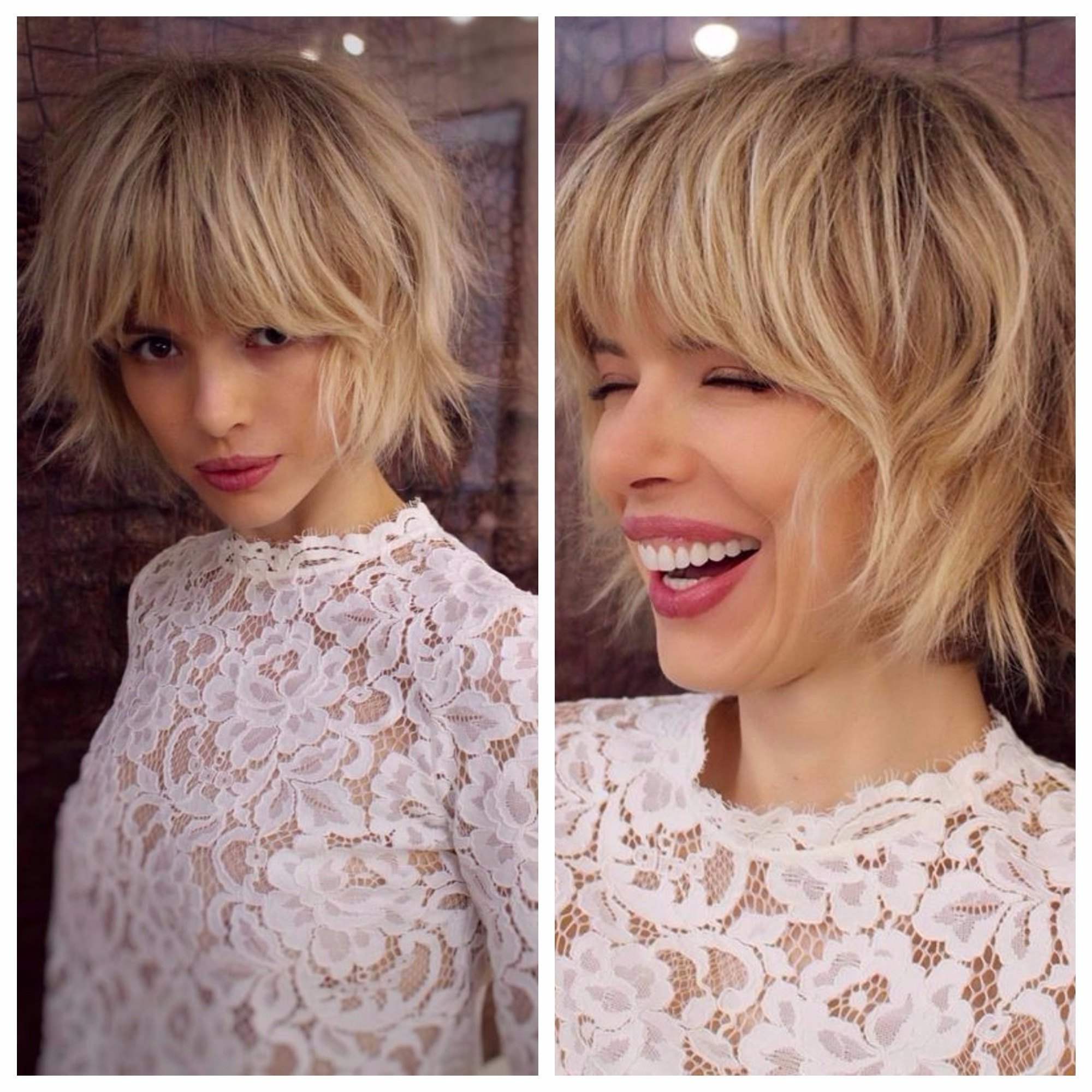 Short Textured Bob With Bangs For Fine Hair – Hair World Magazine Inside Trendy Cute Blonde Bob With Short Bangs (View 18 of 20)