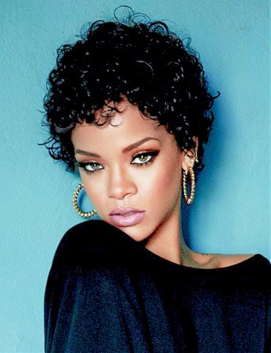 Short Throughout Popular Short Black Pixie Hairstyles For Curly Hair (View 20 of 20)
