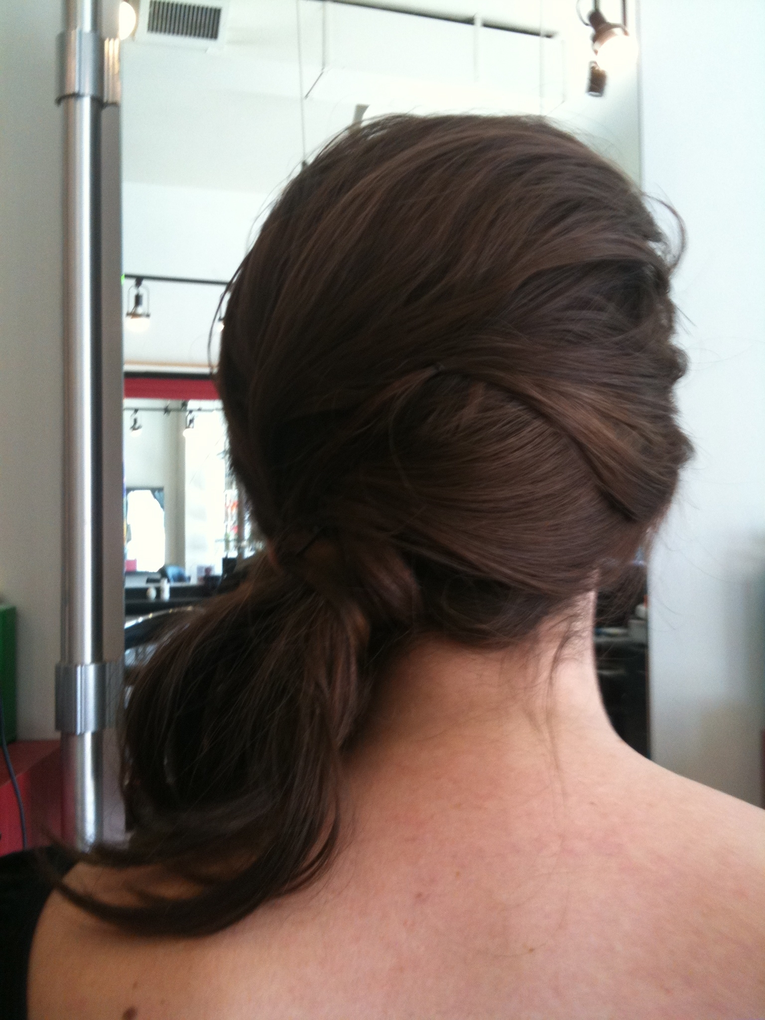 Side Chignon – The Bohemian Bride In Best And Newest Sassy Side Ponytail Hairstyles (View 11 of 20)