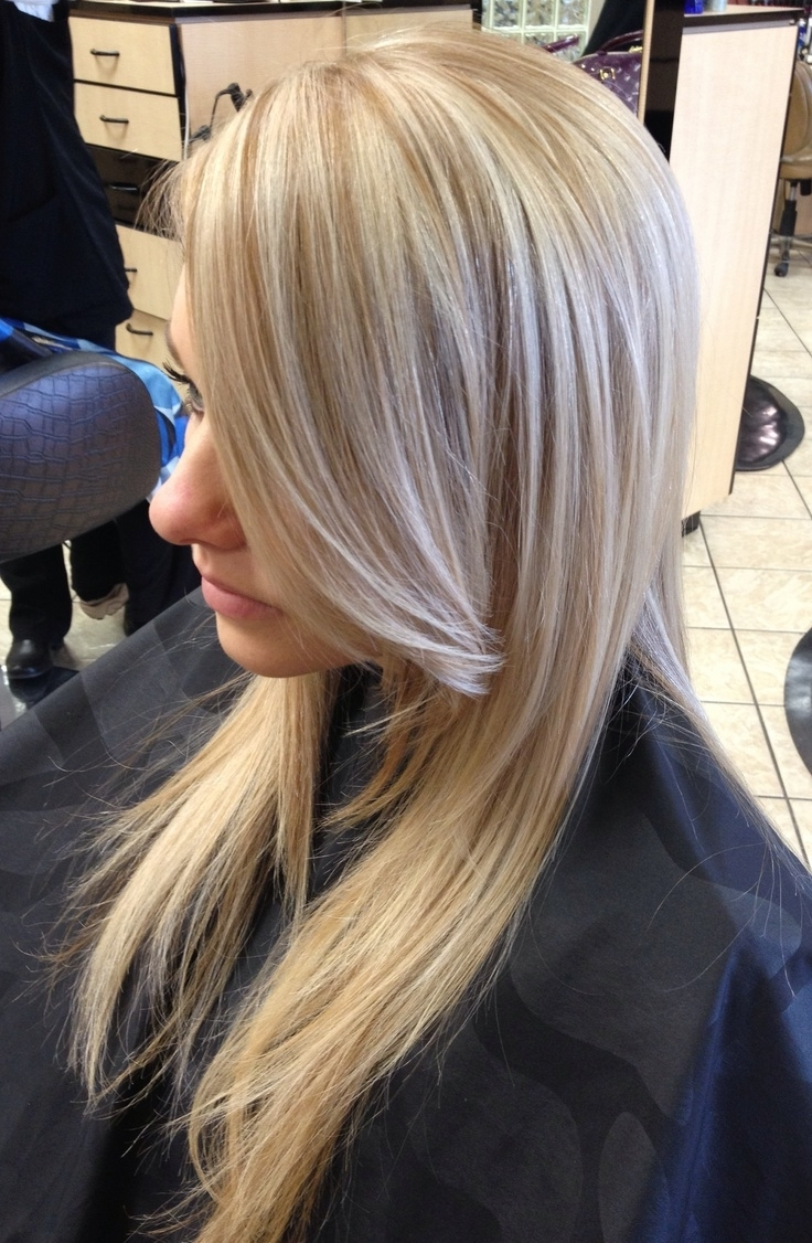 Simple Hair Cuts In Particular Highlights And Lowlights For Blondes Within Most Recently Released Dark Blonde Hairstyles With Icy Streaks (View 18 of 20)