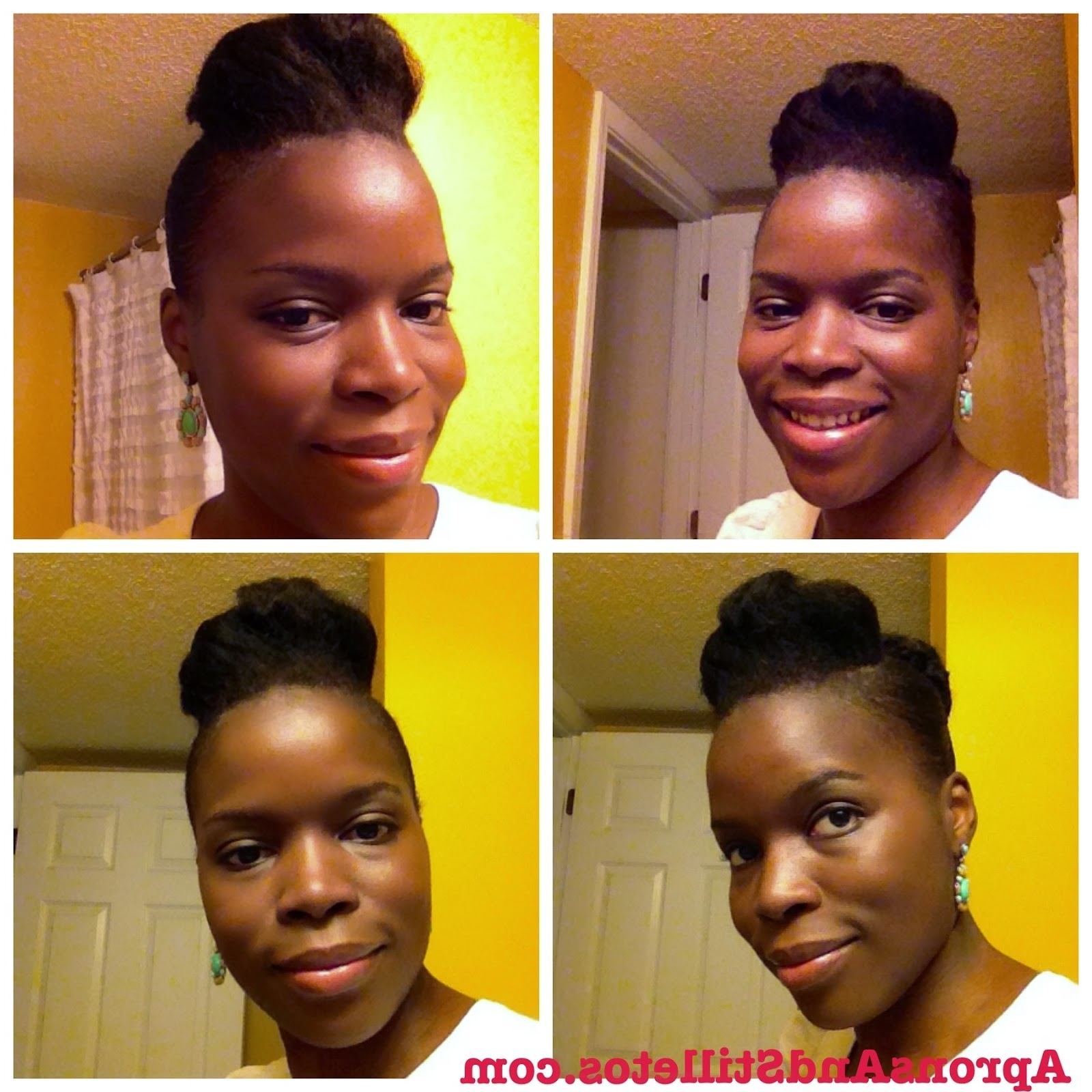 Simple Natural Hair Pompadour Protective Style With Fashionable Pompadour Pony Hairstyles (View 15 of 20)
