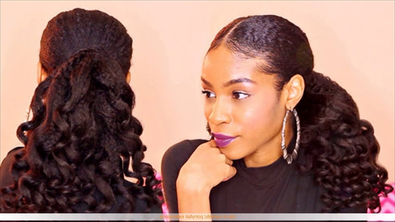 Featured Photo of Sleek And Chic Ringlet Ponytail Hairstyles