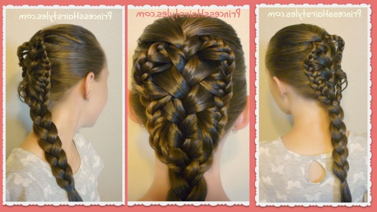 Stingray Braid Hairstyle Tutorial, Hair4Myprincess – Youtube With Regard To Trendy Double Floating Braid Hairstyles (View 16 of 20)