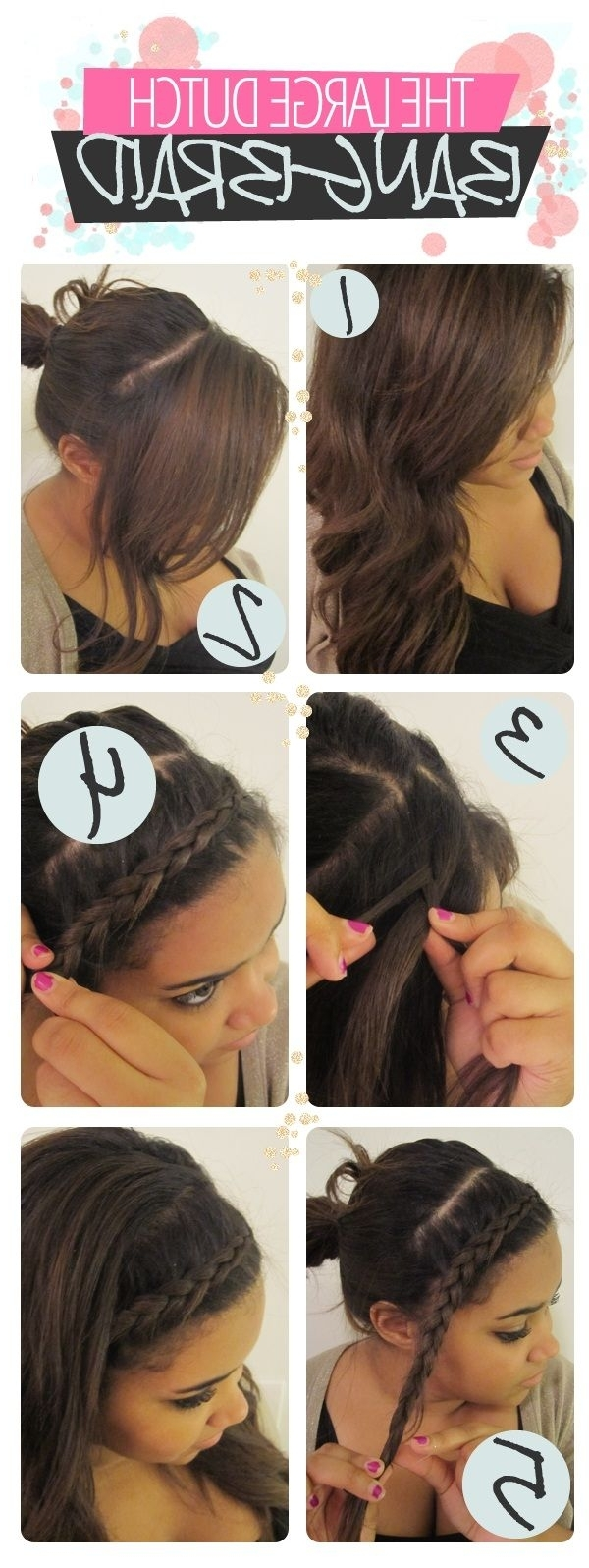 Stunning Hair Tutorials For This Week – Pretty Designs Within Best And Newest Brunette Ponytail Hairstyles With Braided Bangs (View 13 of 20)