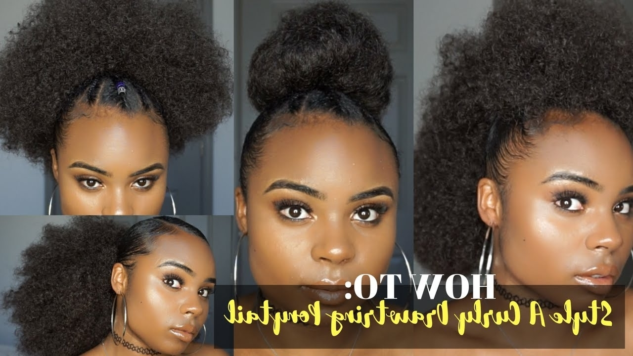 Style A Natural Curly Drawstring Ponytail – Youtube (View 9 of 20)