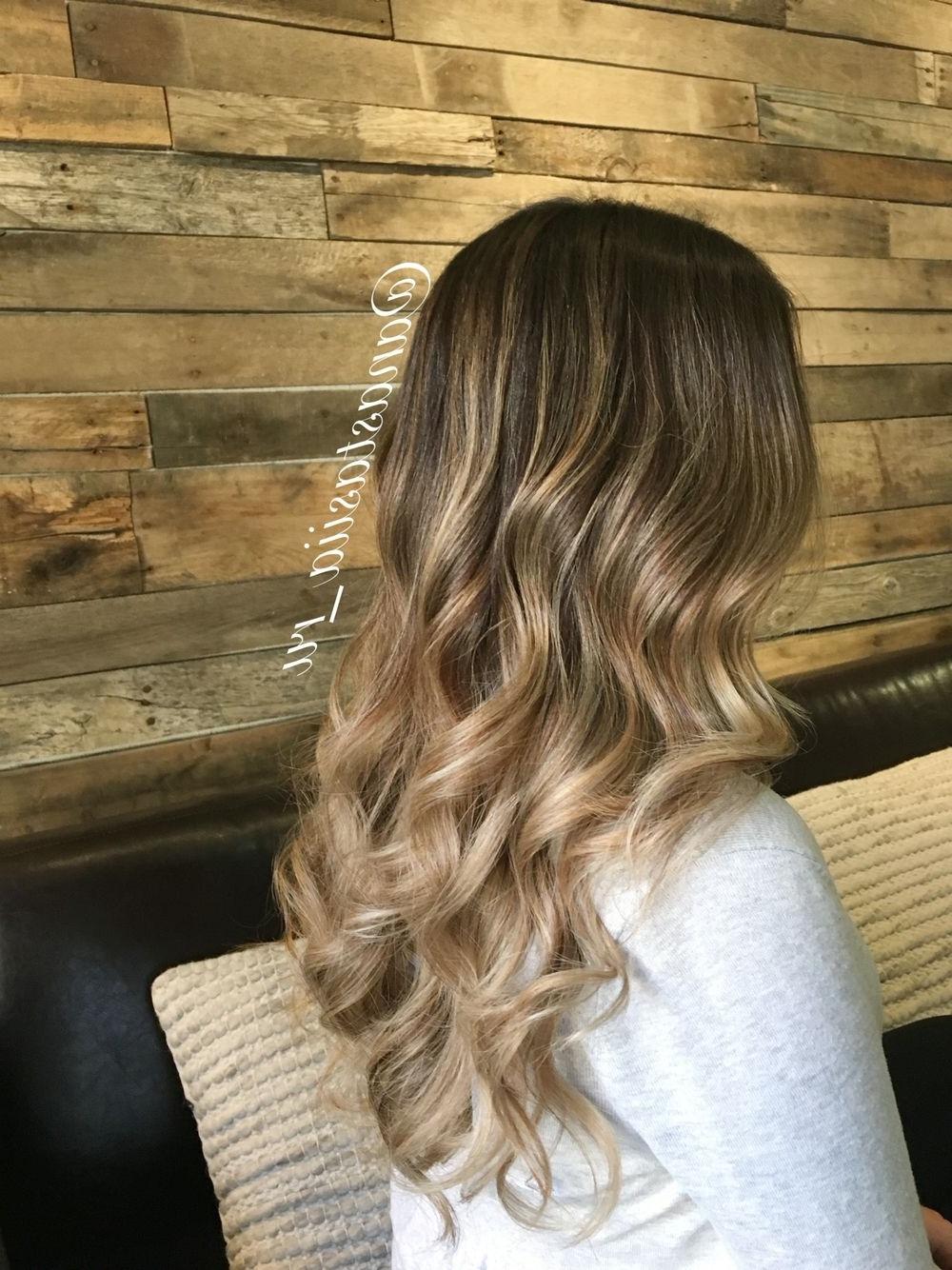Subtle Blonde Caramel Balayage. Ombré. Color Melt (View 13 of 20)