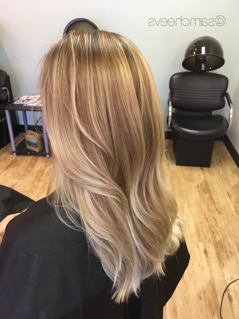 Sunkissed Light Blonde Balayage Ombré Highlights // Warm Golden With Regard To Current Light Golden Blonde With Platinum Highlights (View 16 of 20)