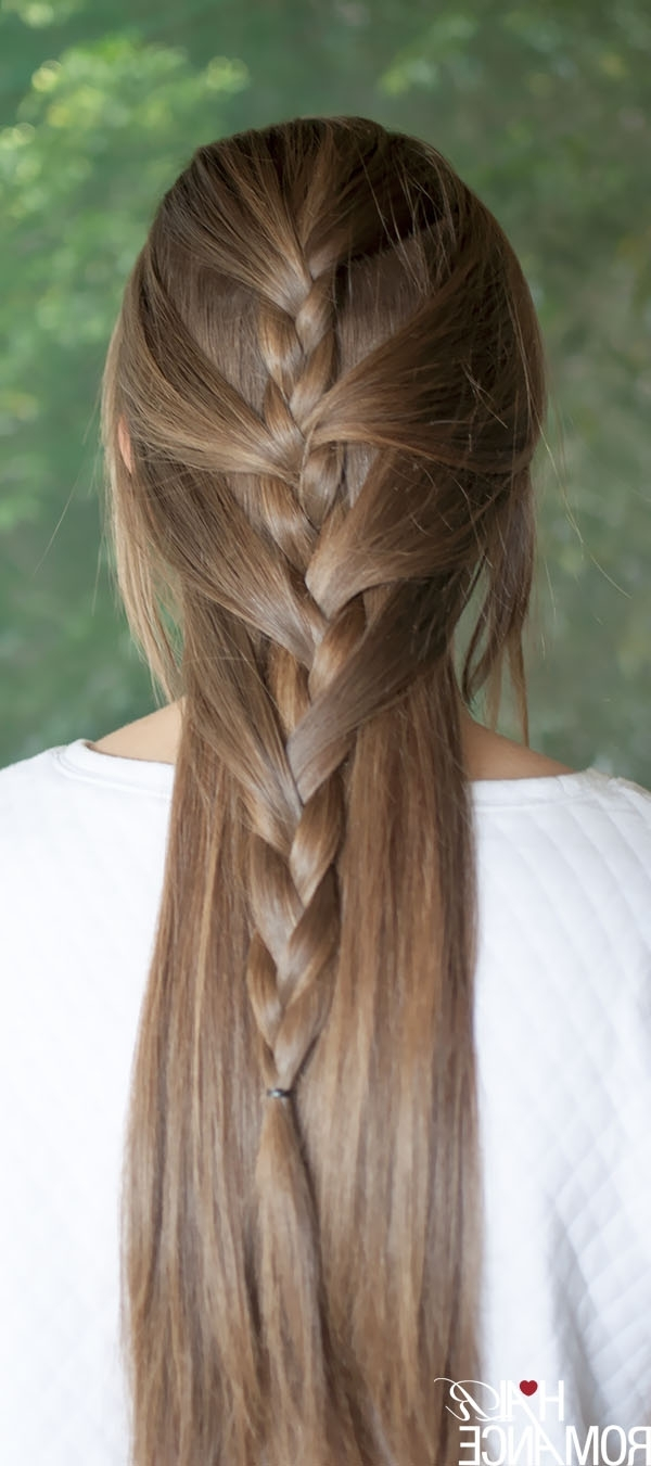 Swept Away – Try This Sweeping Half French Braid Tutorial – Hair Romance Throughout Well Known Half French Braid Ponytail Hairstyles (View 17 of 20)